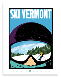 Ski Vermont 2016 Official Ociation Poster For The Year Listed Above 20 X 26 Inches